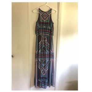 Summer Patterned Flowy Maxi Dress
